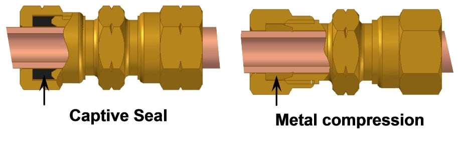 Metal compression